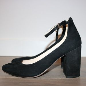 Cole Haan Ankle-Strap Pump Size 8 in Black Suede